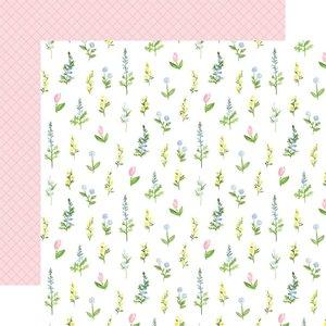 "Papel 12x12"" Carta Bella Flora n4 Pastel Stems"