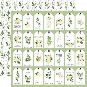 "Papel 12x12"" Carta Bella Flora n4 Natural Tags"