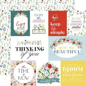 "Papel 12x12"" Carta Bella Flora n4 Bold Journaling Cards"