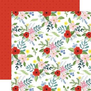 "Papel 12x12"" Carta Bella Flora n4 Bold Large Floral"