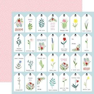 """Papel 12x12"""" Carta Bella Flora n4 Bold Tags"""