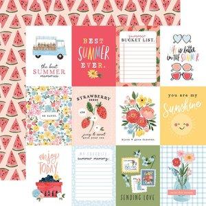 """Papel 12x12"""" Carta Bella Summer 3""""X4"""" Journaling Cards"""
