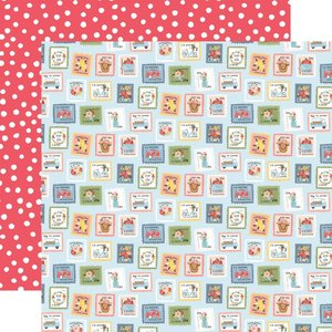 "Papel 12x12"" Carta Bella Summer Summer Stamps"