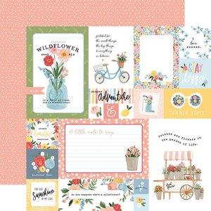 "Papel 12x12"" Carta Bella Summer Multi Journaling Cards"