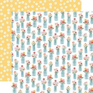 """Papel 12x12"""" Carta Bella Summer Floral Jars"""