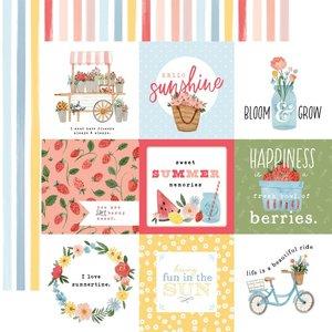"""Papel 12x12"""" Carta Bella Summer 4""""X4"""" Journaling Cards"""