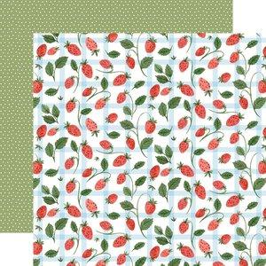"Papel 12x12"" Carta Bella Summer Strawberries"
