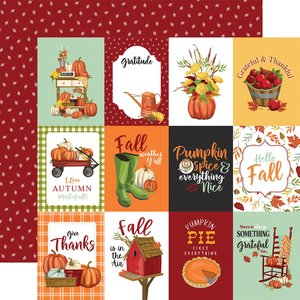 "Papel 12x12"" Carta Bella Welcome Autumn 3X4 Journaling Cards"