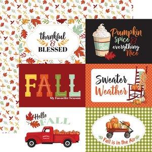 "Papel 12x12"" Carta Bella Welcome Autumn 6X4 Journaling Cards"