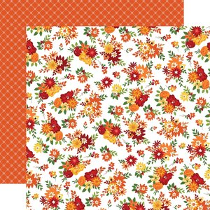 """Papel 12x12"""" Carta Bella Welcome Autumn Fall Floral"""