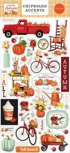 "Chipboard 6x12"" Carta Bella Welcome Autumn Accents"