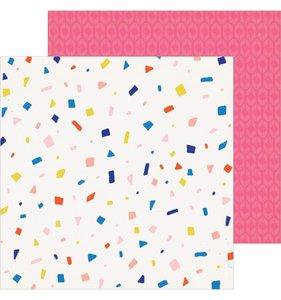 """Papel 12""""x12"""" Hooray Confetti"""