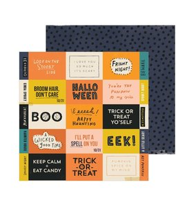 "Papel 12""x12"" Hey Pumpkin Eeek"