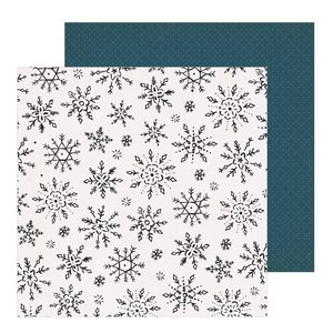 "Papel 12""x12"" Snowflake Winterscape"