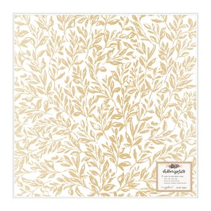 "Vellum con foil 12x12"" Marigold Golden Hour"