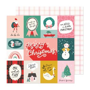"Papel 12x12"" Hey Santa Oh What Fun"