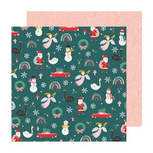 "Papel 12x12"" Hey Santa Christmas Magic"