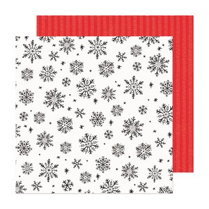 "Papel 12x12"" Hey Santa Sweet December"