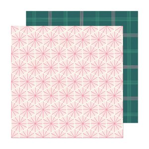 "Papel 12x12"" Hey Santa Peppermint"