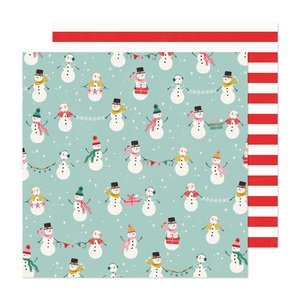 "Papel 12x12"" Hey Santa North Pole"
