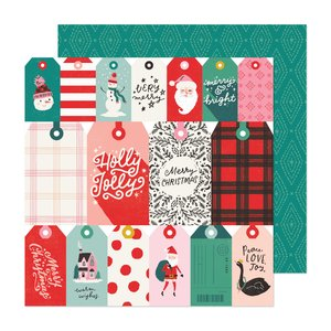 "Papel 12x12"" Hey Santa Be Jolly"