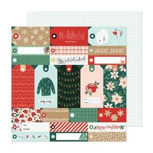 "Papel 12""x12"" Busy Sidewalks de Crate Paper Merry Merry"