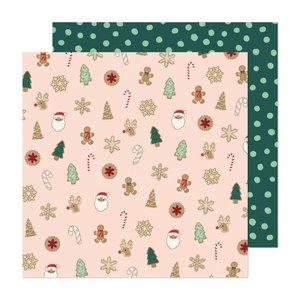 "Papel 12""x12"" Busy Sidewalks de Crate Paper Christmas Cookies"
