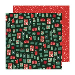"""Papel 12""""x12"""" Busy Sidewalks de Crate Paper Holiday Style"""