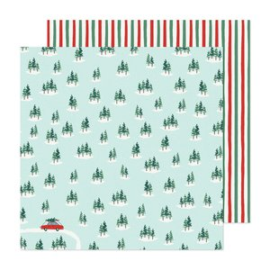 "Papel 12""x12"" Busy Sidewalks de Crate Paper Christmas Tree Farm"