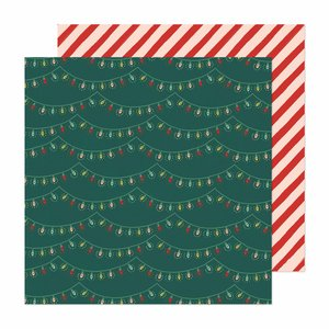 """Papel 12""""x12"""" Busy Sidewalks de Crate Paper Holiday Glow"""