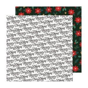 "Papel 12""x12"" Busy Sidewalks de Crate Paper Christmas Greetings"