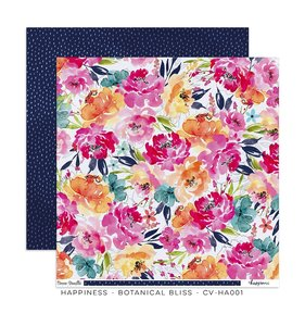 "Papel 12""x12"" Happiness Botanical Bliss"
