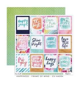 "Papel 12""x12"" Happiness Frames of Mind"