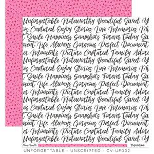 "Papel 12""x12"" Unforgettable Unscripted"