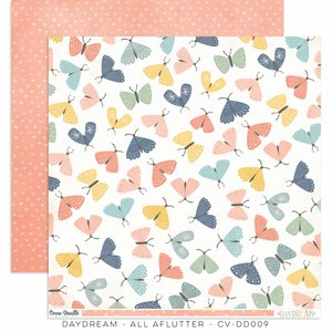 "Papel 12x12"" Cocoa Vanilla Daydream All Aflutter"