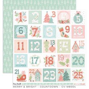 """Papel 12x12"""" Cocoa Vanilla Merry & Bright Countdown"""