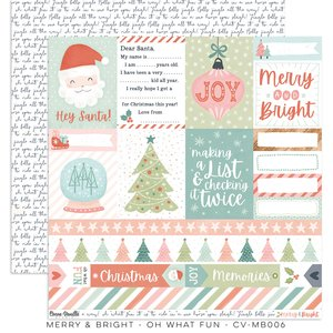 "Papel 12x12"" Cocoa Vanilla Merry & Bright Oh What Fun"