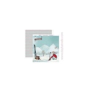 """Papel 12""""x12"""" Dayka Vacaciones en la nieve"""