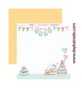 "Papel 12""x12"" Dayka Baby Shower"