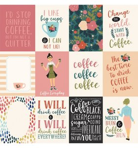 "Papel 12""x12"" Coffee 3x4 Journaling Cards"