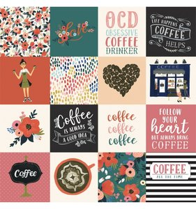"Papel 12""x12"" Coffee 3x3 Journaling Cards"