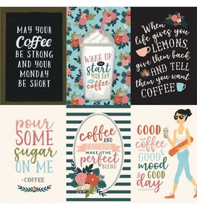 "Papel 12""x12"" Coffee 4x6 Vertical Journaling Cards"