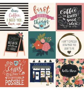 "Papel 12""x12"" Coffee 4x4 Journaling Cards"