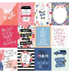 """Papel 12""""x12"""" I am Mom 3X4 Journaling Cards"""
