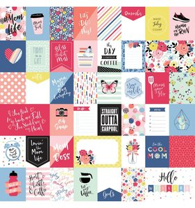 """Papel 12""""x12"""" I am Mom Multi Journaling Cards"""