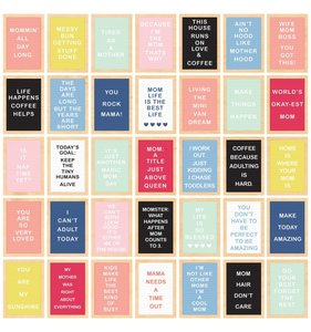 """Papel 12""""x12"""" I am Mom Inspirational Letterboards"""