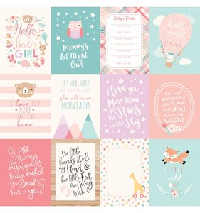 "Papel 12""x12"" Hello Baby Girl 3x4 Journaling Cards"