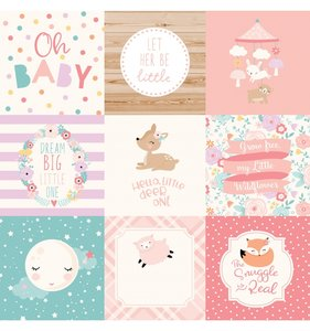 "Papel 12""x12"" Hello Baby Girl 4x4 Journaling Cards"