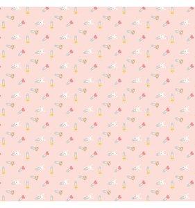 "Papel 12""x12"" Hello Baby Girl Diaper Pins"