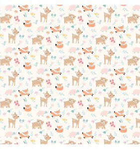 "Papel 12""x12"" Hello Baby Girl Woodland Friends"